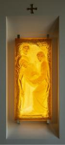Cast Glass Station of the Cross